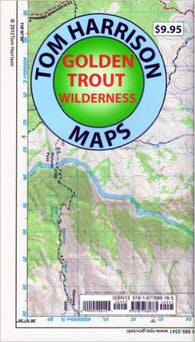 Buy map Golden Trout Wilderness by Tom Harrison Maps