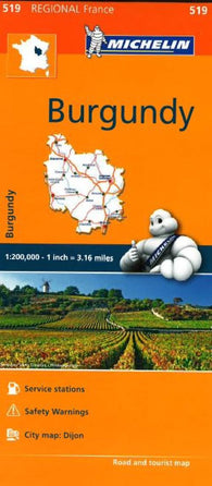 Buy map Burgundy (519) by Michelin Maps and Guides