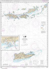 Buy map Virgin Islands-Virgin Gorda to St. Thomas and St. Croix; Krause Lagoon Channel (25641-29) by NOAA