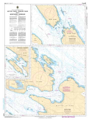 Buy map Active Pass, Porlier Pass, and/et Montague Harbour by Canadian Hydrographic Service