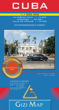 Buy map Cuba, Geographical Map by GiziMap