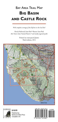 Buy map Bay Area Trail Map: Big Basin and Castle Rock by Redwood Hikes Press