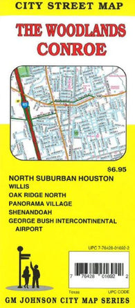 Buy map Woodlands & Conroe, TX by GM Johnson