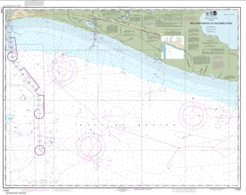 Buy map Rollover Bayou to Calcasieu Pass (11344-40) by NOAA