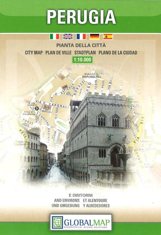 Buy map Perugia, Italy by Litografia Artistica Cartografica