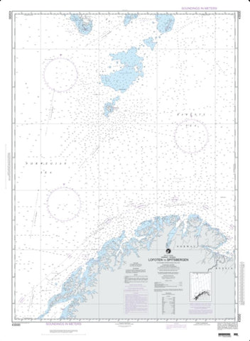 Buy map Lofoten To Spitsbergen (NGA-43000-4) by National Geospatial-Intelligence Agency