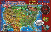 Buy map Dinos United States Puzzle by Dino Maps