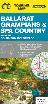 Buy map Ballarat, Grampians and Spa Country, Australia by Universal Publishers Pty Ltd