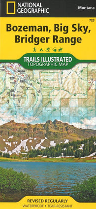 Buy map Bozeman, Big Sky, Bridger Range Topographic Map by National Geographic Maps