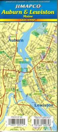 Buy map Auburn and Lewiston, Maine, Quickmap by Jimapco