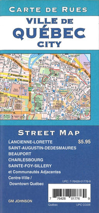 Buy map Québec City Street Map by GM Johnson