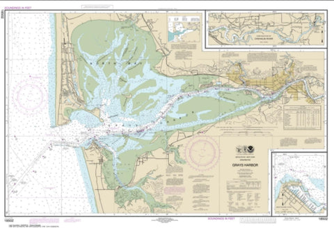 Buy map Grays Harbor; Westhaven Cove (18502-87) by NOAA