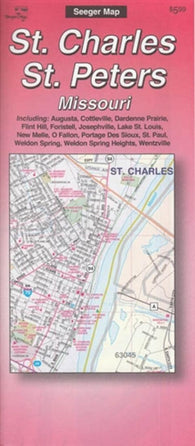 Buy map St. Charles and St. Peters, Missouri by The Seeger Map Company Inc.