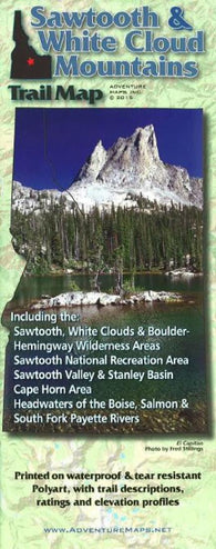 Buy map Sawtooth and White Cloud Mountains, Trail Map by Adventure Maps