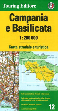 Buy map Campania and Basilicata by Touring Club Italiano
