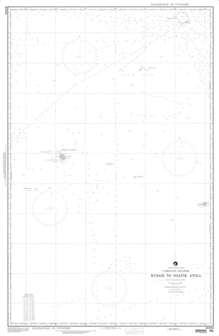 Buy map Kusaie Island To Ngatik Atoll (Caroline Islands) (NGA-81016-1) by National Geospatial-Intelligence Agency