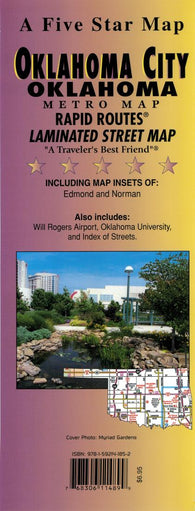 Buy map Oklahoma City, Oklahoma (Metro) Rapid Routes by Five Star Maps, Inc.