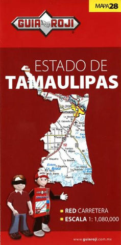 Buy map Tamaulipas, Mexico, State Map by Guia Roji