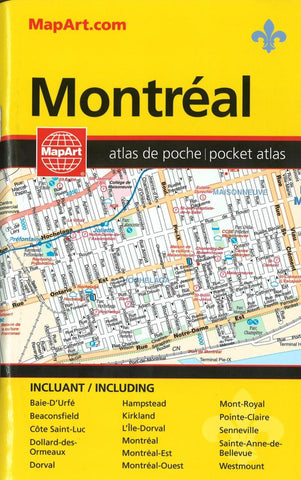 Buy map Montreal Pocket Street Atlas by Canadian Cartographics Corporation
