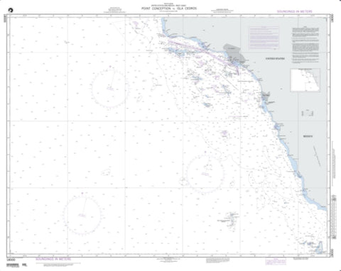 Buy map Point Conception To Isla Cedros (NGA-18000-8) by National Geospatial-Intelligence Agency