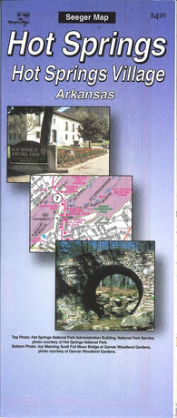 Buy map Hot Springs and Hot Springs Village, Arkansas by The Seeger Map Company Inc.