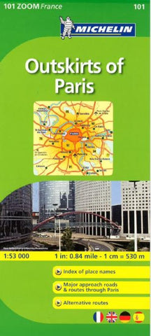 Buy map Paris, Outskirts Of Paris, Zoom Map (101) by Michelin Maps and Guides