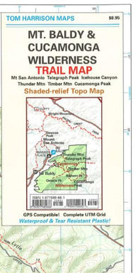 Buy map Mount Baldy and Cucamonga Wilderness, California by Tom Harrison Maps