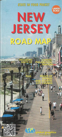 Buy map New Jersey Road Map by Global Graphics