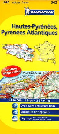 Buy map Hautes Pyrenees, Pyrenees Atlantique, France (342) by Michelin Maps and Guides