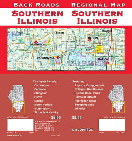 Buy map Illinois, Southern, Back Roads by GM Johnson