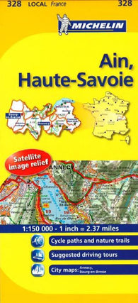 Buy map Ain, Haute Savoie (328) by Michelin Maps and Guides