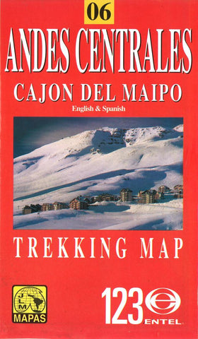Buy map Andes Centrales and Cajon del Maipo, Chile by Juan Luis Mattassi Alonso