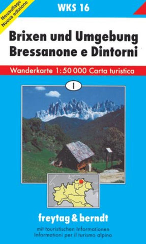 Buy map Brixen/Bressanone and Environs: Hiking Map WKS 16 by Freytag-Berndt und Artaria