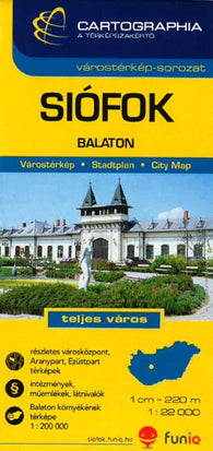 Buy map Siofok, Hungary by Cartographia