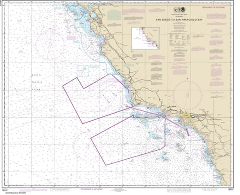 Buy map San Diego to San Francisco Bay (18022-36) by NOAA