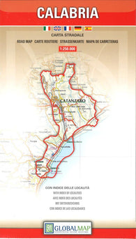Buy map Calabria, Italy by Litografia Artistica Cartografica