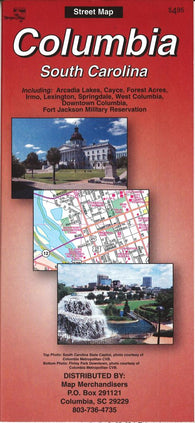 Buy map Columbia : South Carolina by The Seeger Map Company Inc.