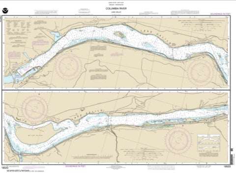 Buy map Columbia River Lake Celilo (18533-12) by NOAA