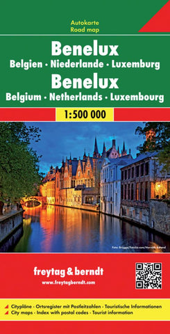 Buy map Benelux by Freytag-Berndt und Artaria