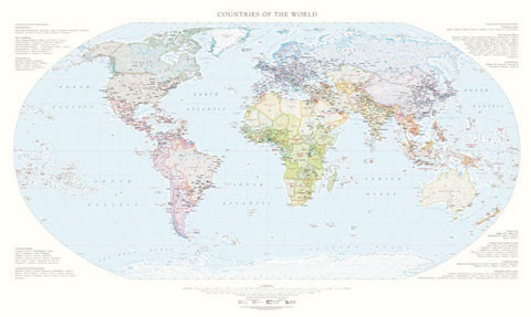 Buy map Countries of the World, Laminated Wall Map by Raven Maps