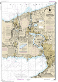 Buy map Approaches to Niagara River and Welland Canal (14822-32) by NOAA