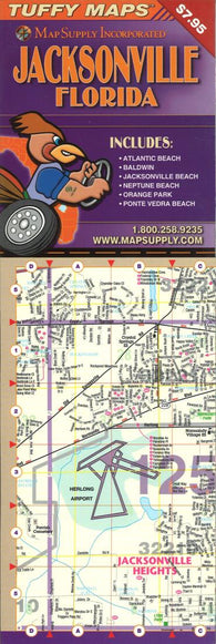 Buy map Jacksonville, Florida Laminated Tuffy Map by Tuffy Maps