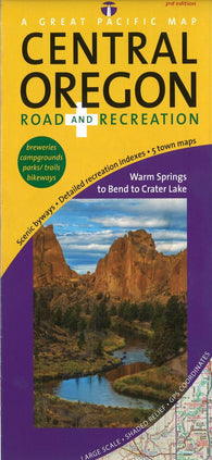 Buy map Central Oregon, Road and Recreation by Great Pacific Recreation & Travel Maps