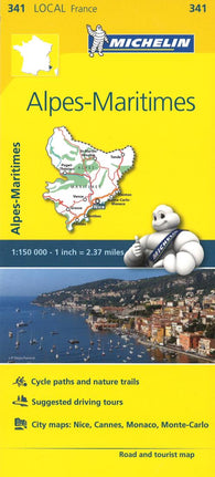 Buy map Alpes Maritimes, France (341) by Michelin Maps and Guides