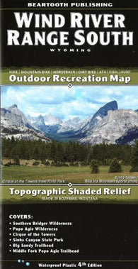 Buy map Wind River Range, South, Wyoming by Beartooth Publishing