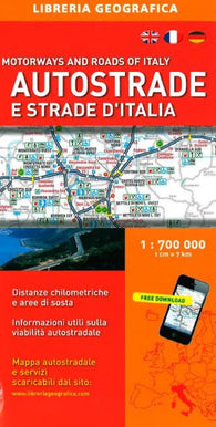Buy map Italy, Motorway and Road Map by Libreria Geografica
