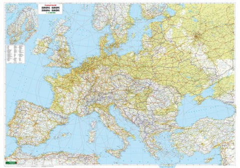 Buy map Europe, Physical, Wall Map by Freytag-Berndt und Artaria