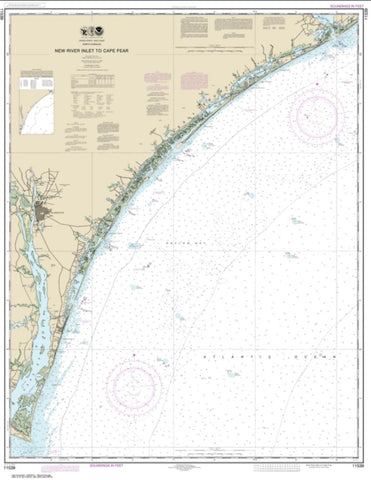 Buy map New River Inlet to Cape Fear (11539-20) by NOAA