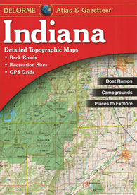 Buy map Indiana, Atlas and Gazetteer by DeLorme