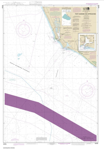 Buy map Port Hueneme And Approaches; Port Hueneme (18724-3) by NOAA